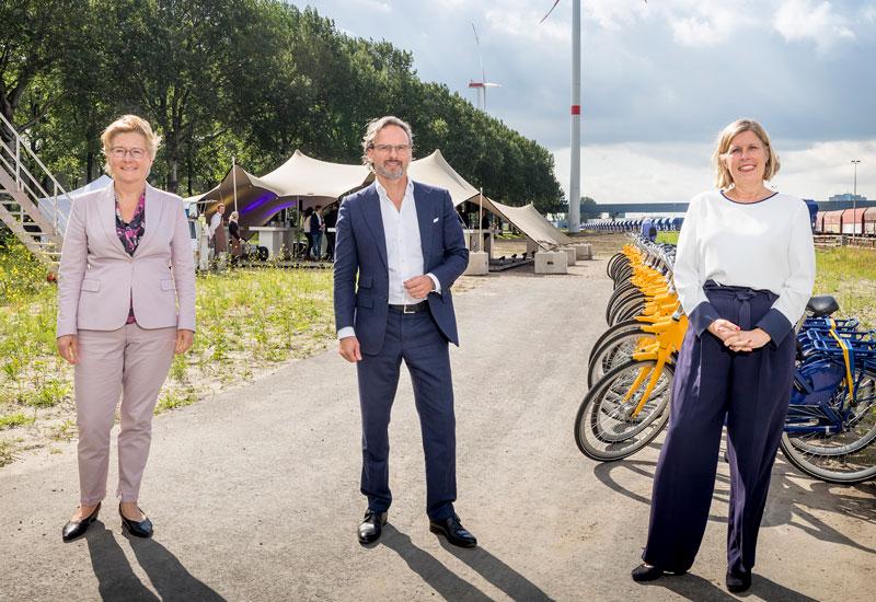 Anneke de Vries (NS), Martijn Hagens (Vattenfall) and Ans Rietstra (ProRail).