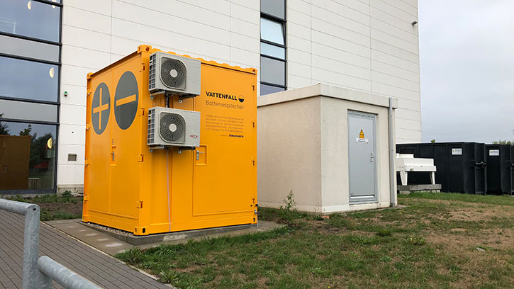 Battery storage for peak shaving in Hamburg