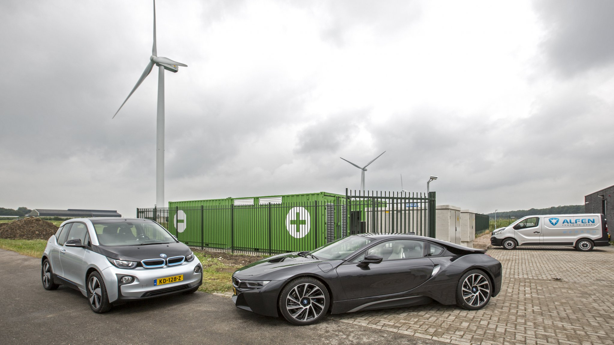 Battery storage system at the Princess Alexia Wind Farm in the Netherlands