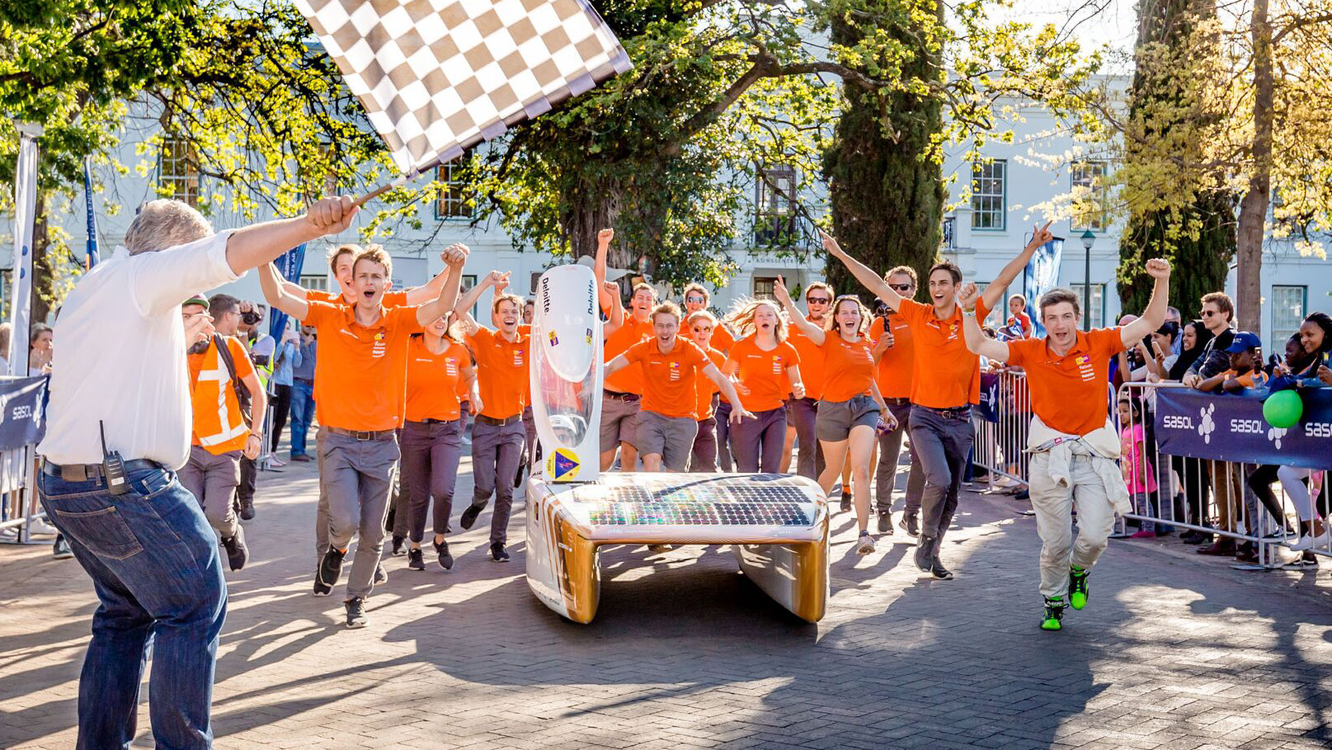 Nuon Solar Team were crowned winners in the solar car race held in South Africa - Nuna9s
