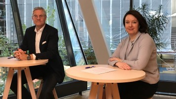Vattenfall's CEO Magnus Hall and CFO Anna Borg