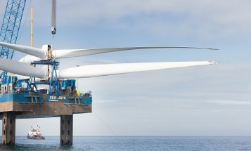 Ormonde offshore wind farm in construction