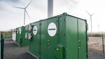Curslack-Hamburg, combined battery storage facility and wind farm