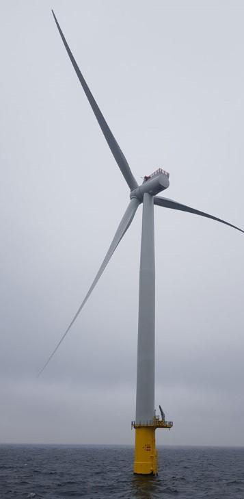 First turbine at Kriegers Flak