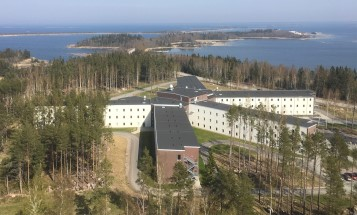 View of staff accommodation Igelgrundet at Forsmark