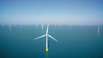 Kentish Flats Offshore Wind Farm aerial view