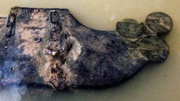 In addition to a 300-year-old rudder, five anchors and a leeboard were among the finds at Kriegers Flak
