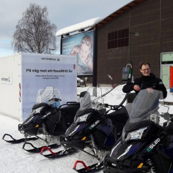 Electric snowmobiles at the 2019 World Ski Championships