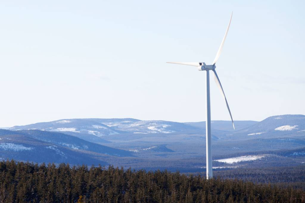 The Stor-Rotliden wind farm in Sweden