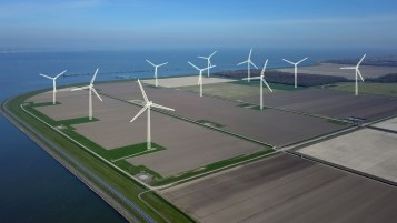 This is what the wind farm will look like in the near future. Photo: Jorrit Lousberg