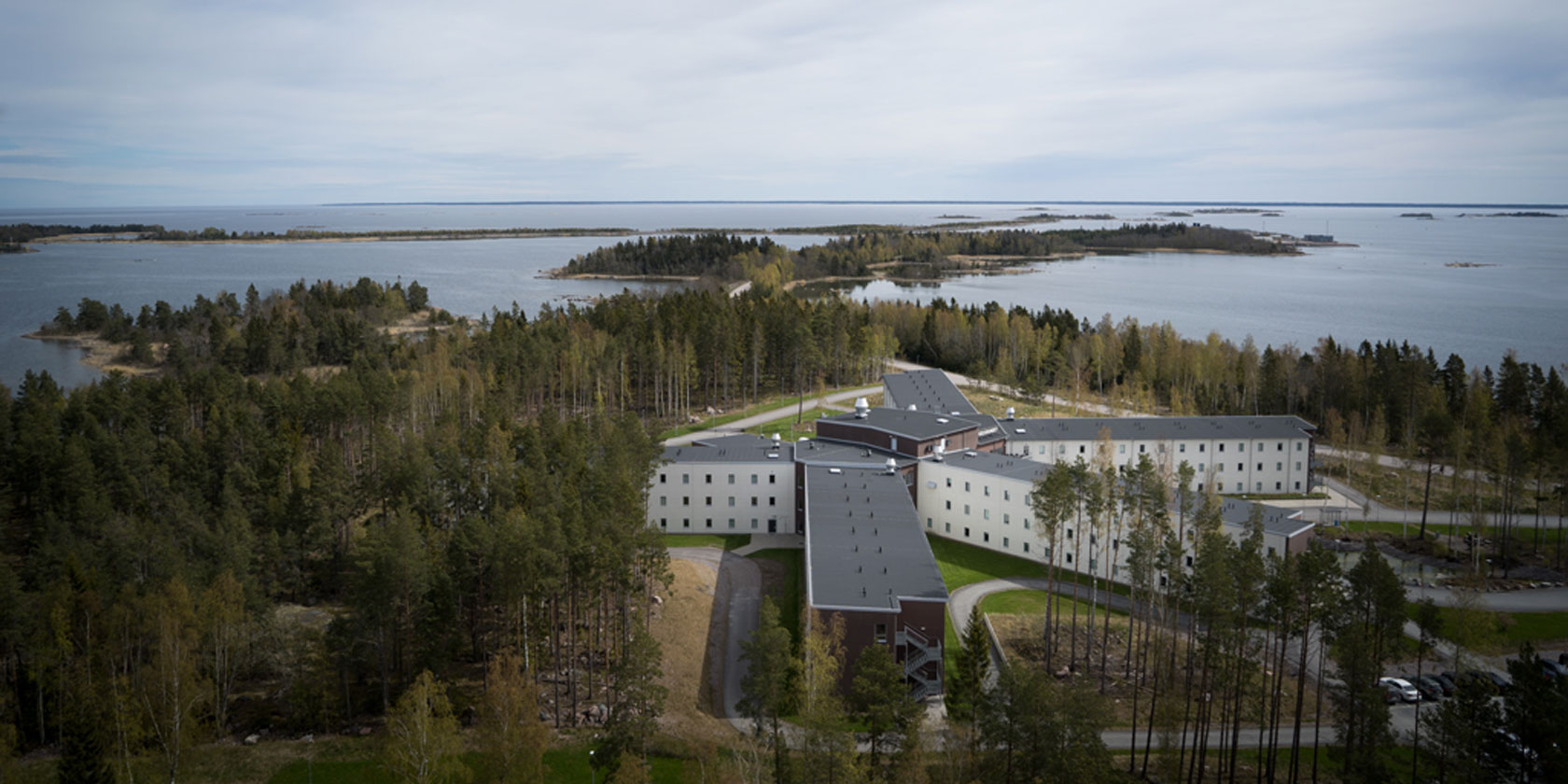 View of Igelgrundet staff accommodation in Forsmark