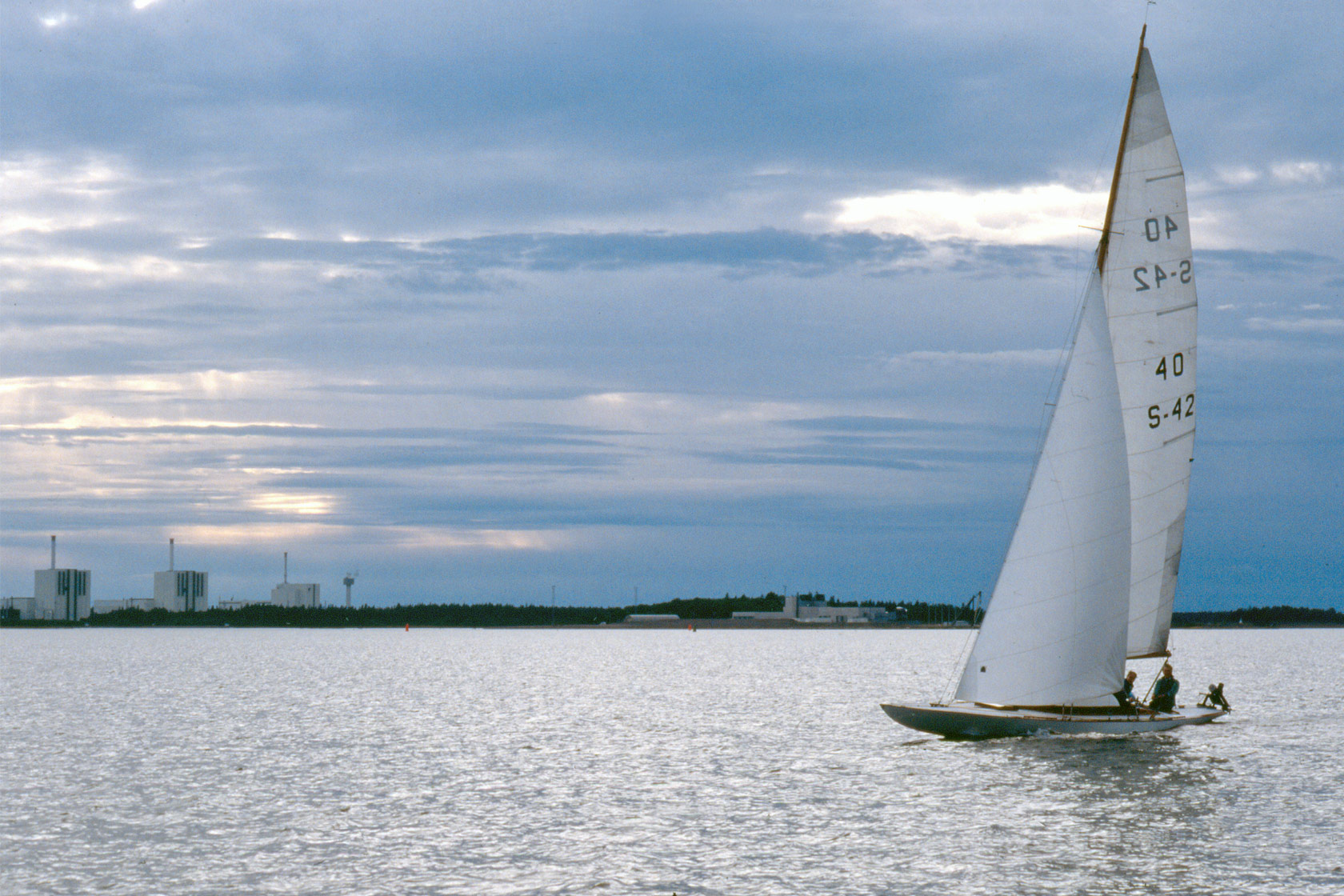 A sail boat at sea outside Forsmark