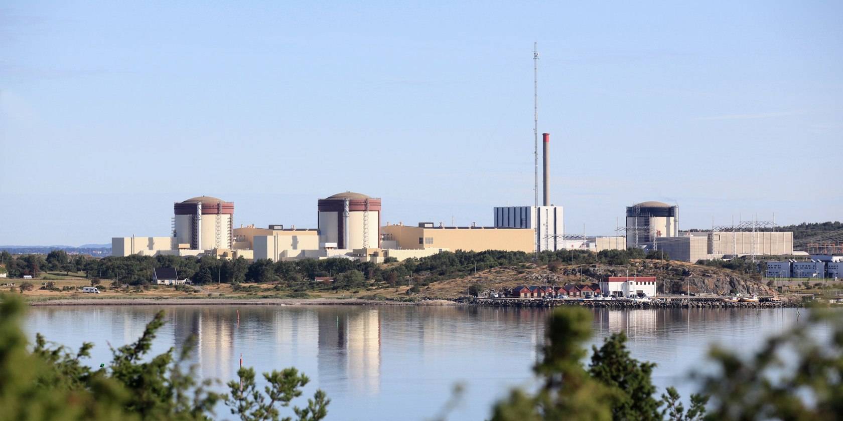 View of Ringhals nuclear power plant