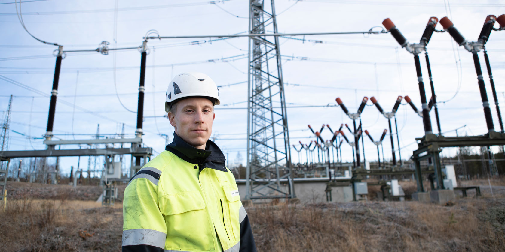 An employee at Harsprånget power station in the north of Sweden. Photo: Jennie Pettersson