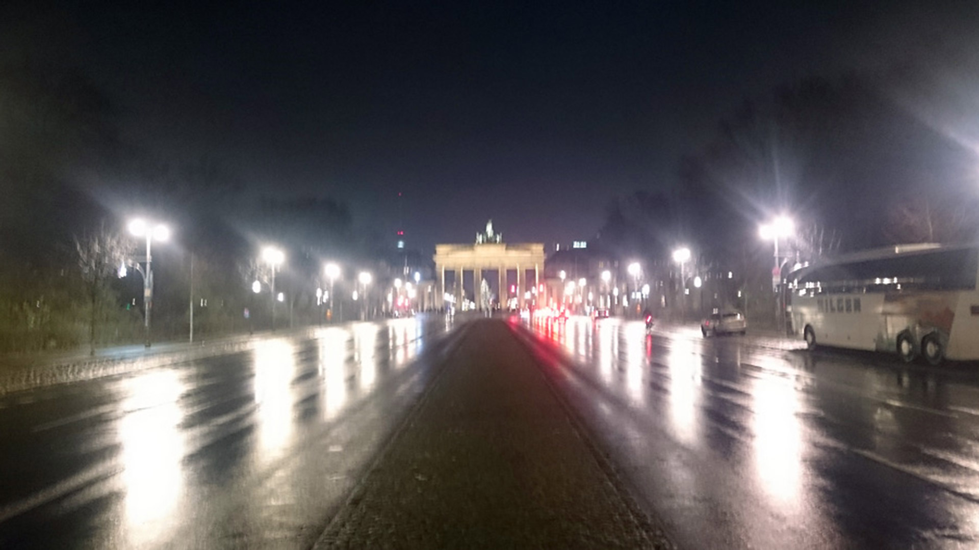 Berlin street at night. Photo: Susan Hortmann