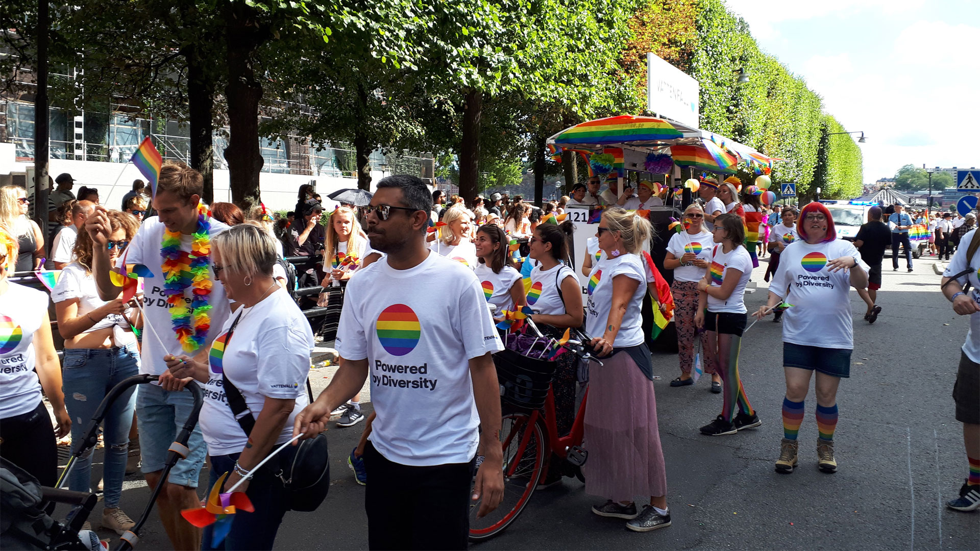 The Pride parade in Stockholm