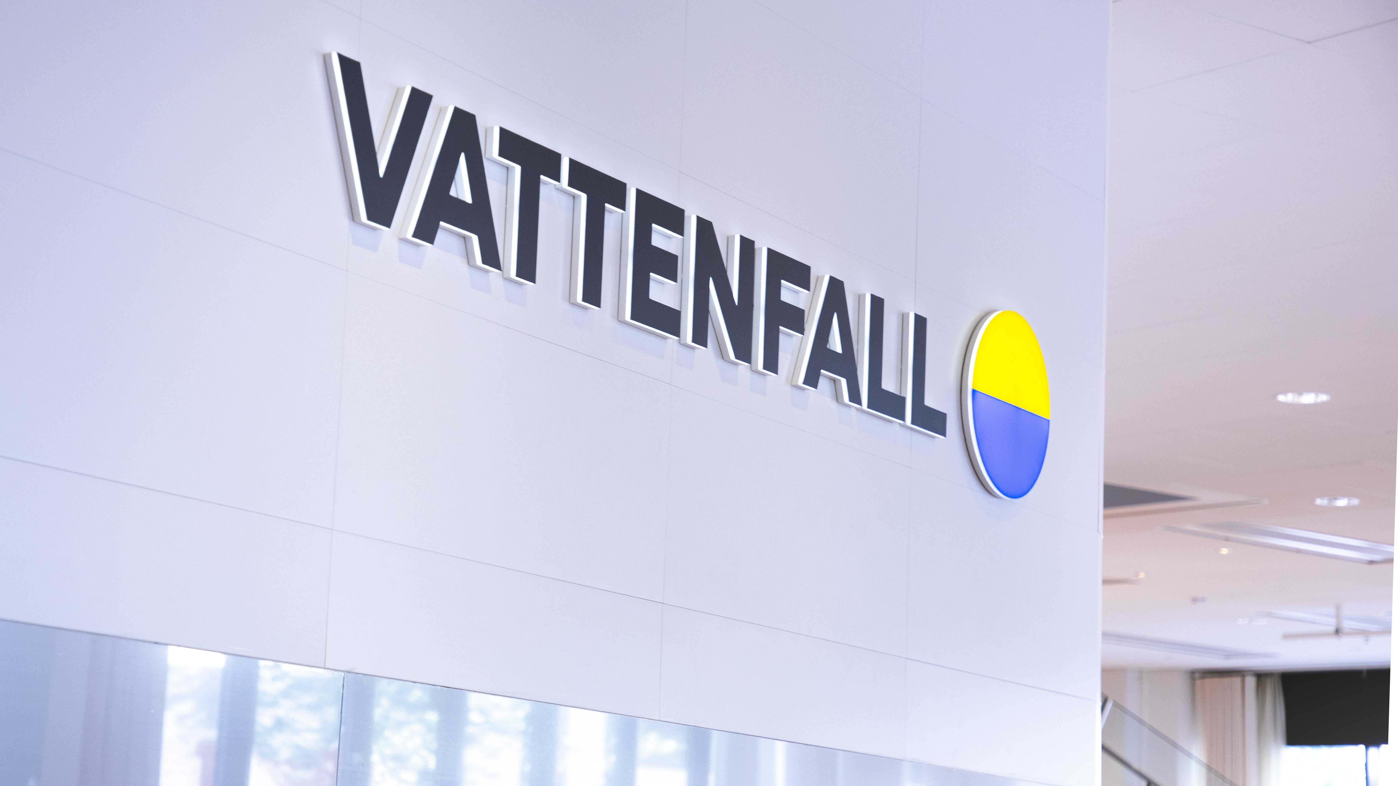 A Vattenfall office with the logo
