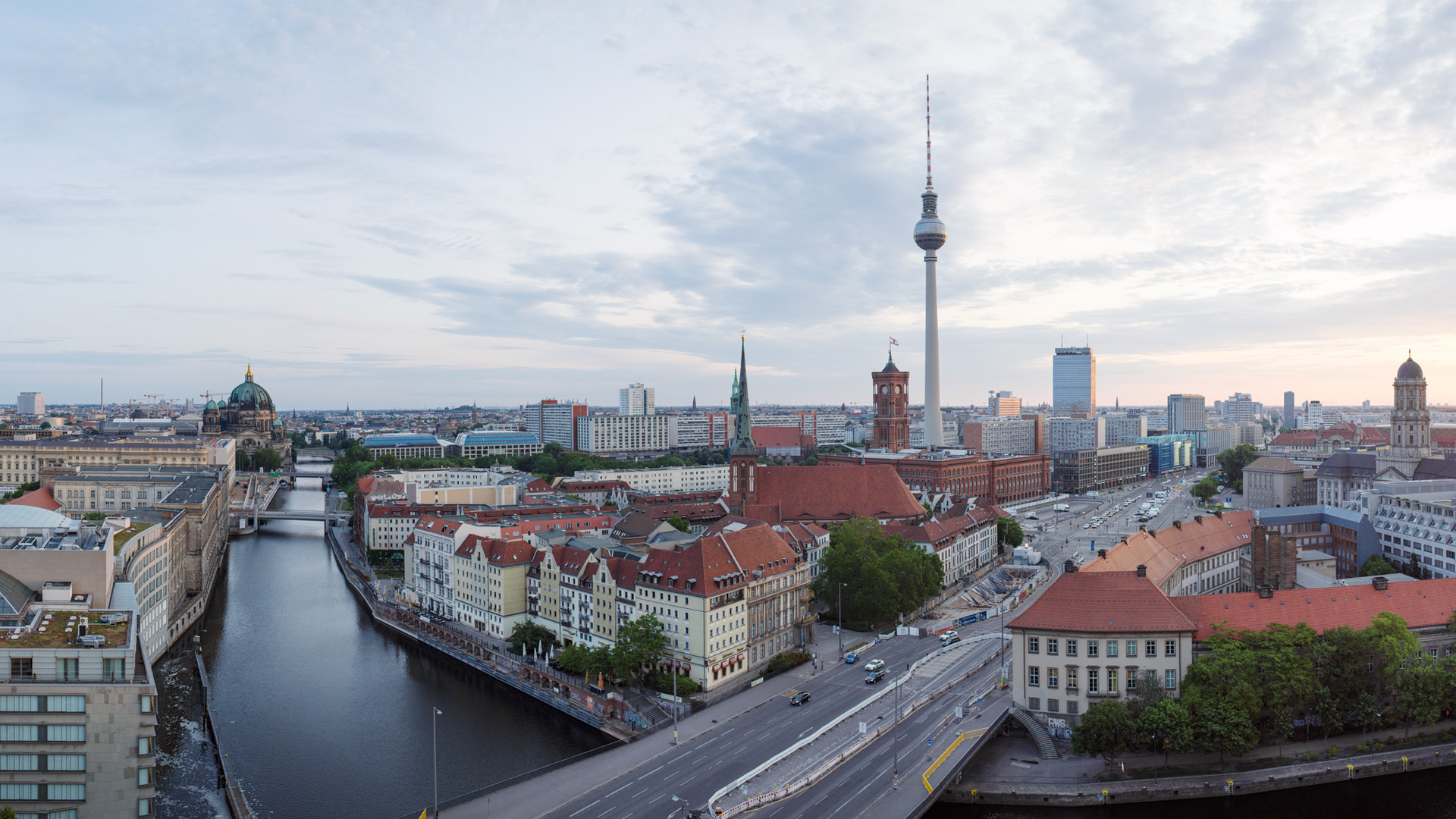 The city of Berlin with the television tower